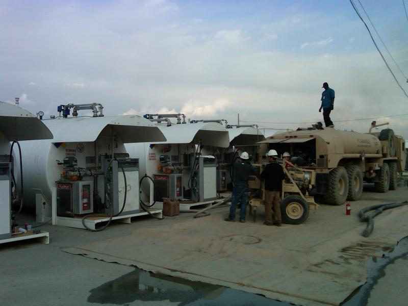Starting up SCAT tanks at Bagram